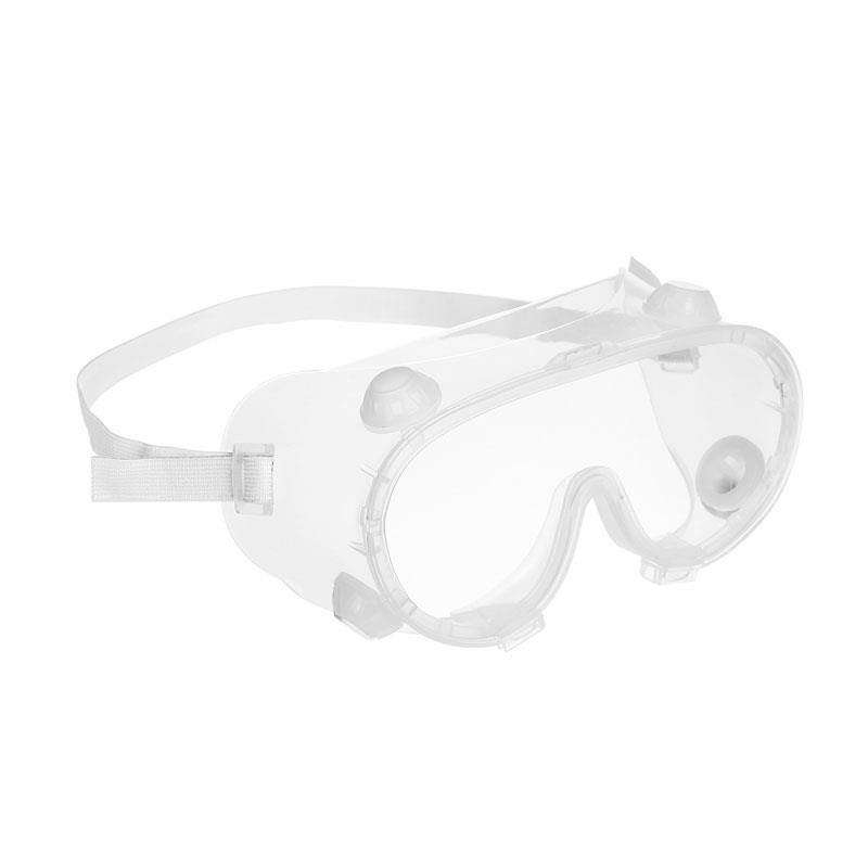 Safety Goggles W/Adjustable Headband, Silicon Edge Clear